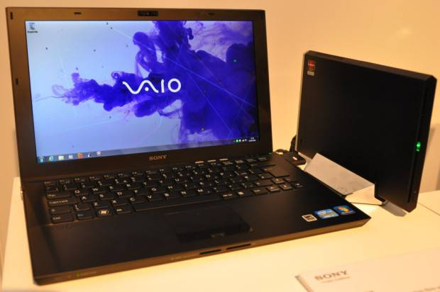 Sony Vaio Z with media dock