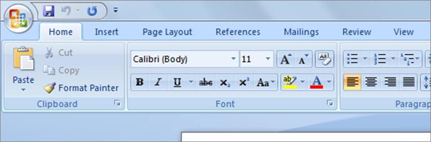 untuk memulai menggunakan microsoft word 2007terlebih dahulu anda klik icon microsoft word yang ada di desktop atau dari menu start