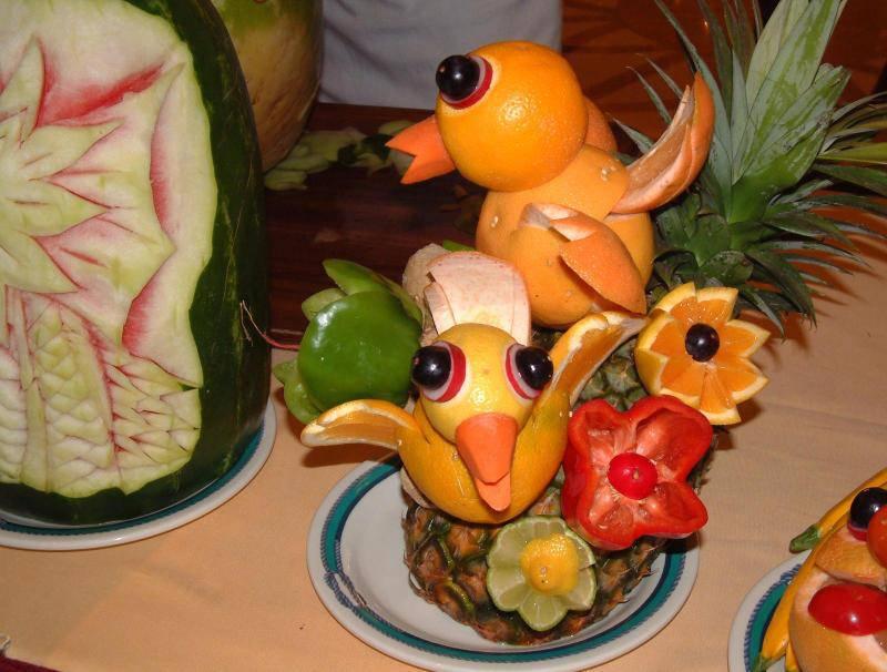 Своими руками из овочів та фруктів