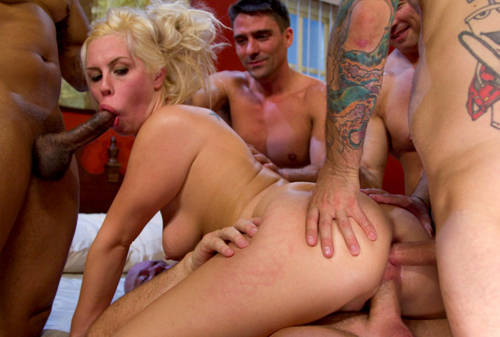 Tara Lynn Foxx with Five Cocks - Kink/ HardcoreGangBang (2012/ HD 720p)
