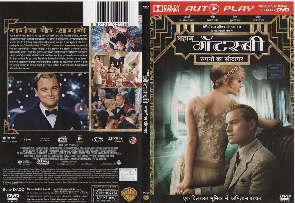 The Great Gatsby (2013) 720p Blu-Ray x264 [Dual-Audio] [English + Hindi 2.0