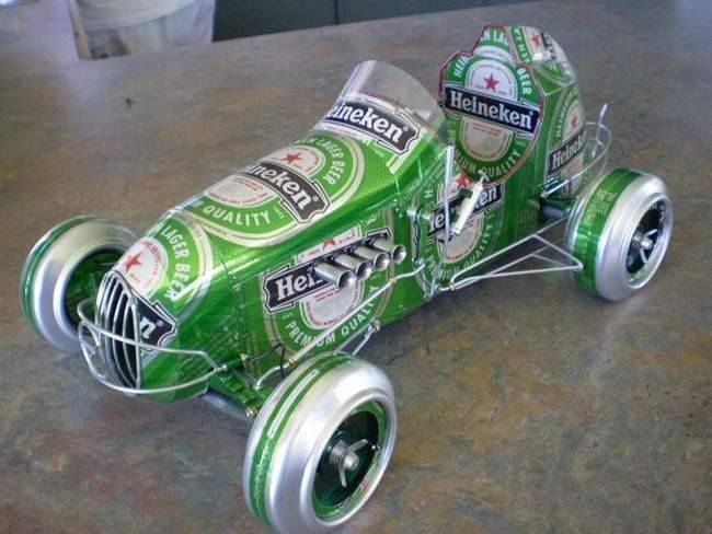 Modele samochodów z aluminiowych puszek 9