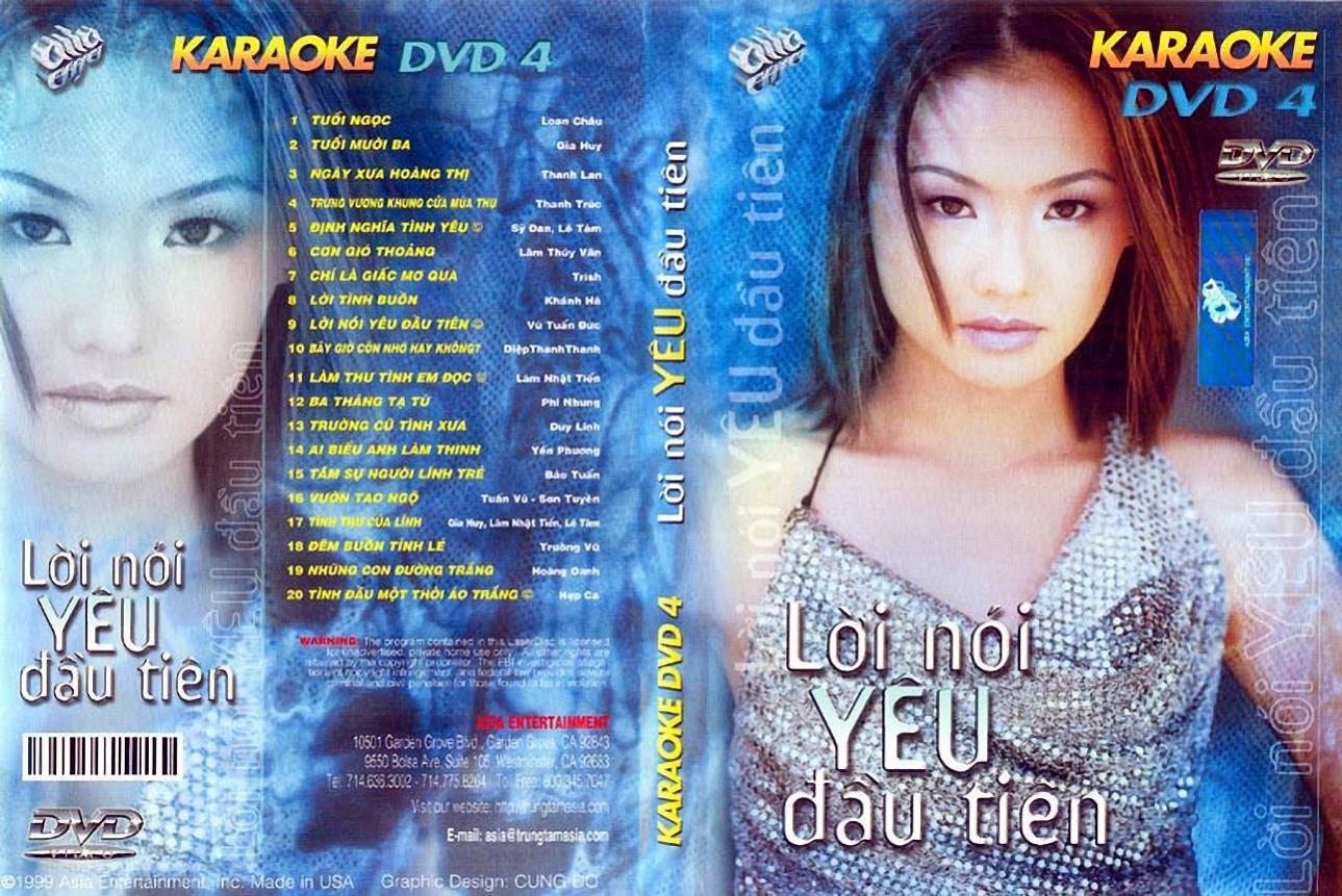 "ASIA 04 Karaoke "" Lời Nói Yêu Đầu Tiên "" DVD9"