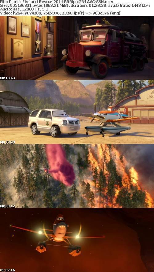 Planes Fire and Rescue 2014 BRRip x264 AAC-SSN