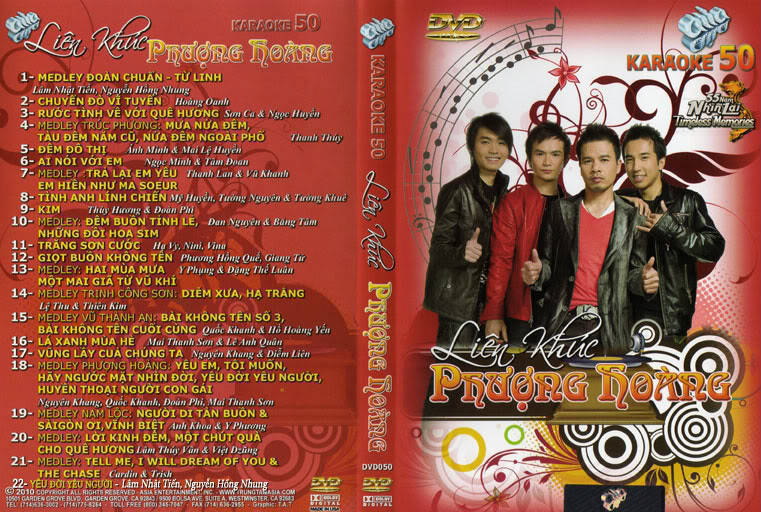 """ASIA 50 Karaoke """" Liên Khúc Phượng Hoàng """" DVD9"""
