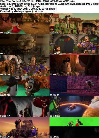 The Book of Life (2014) HDRip x264 AC3-PLAYNOW