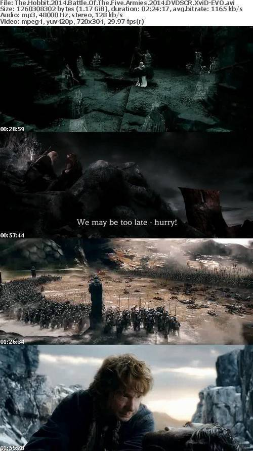 The Hobbit 2014 Battle Of The Five Armies 2014 DVDSCR XviD-EVO