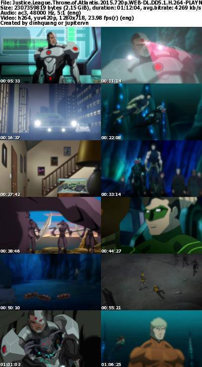 Justice League Throne of Atlantis (2015) 720p WEB-DL DD5.1 H264-PLAYNOW