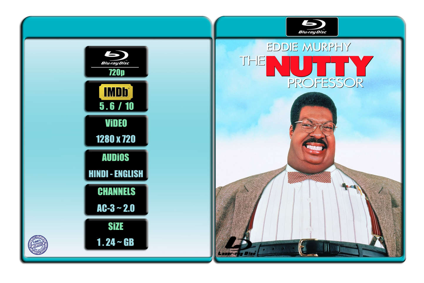 The Nutty Professor [1996] 720p BR Rip x264 [AC-3 ~ 2.0] [HINDI – ENG] ® Im Loser ® 1.24 GB