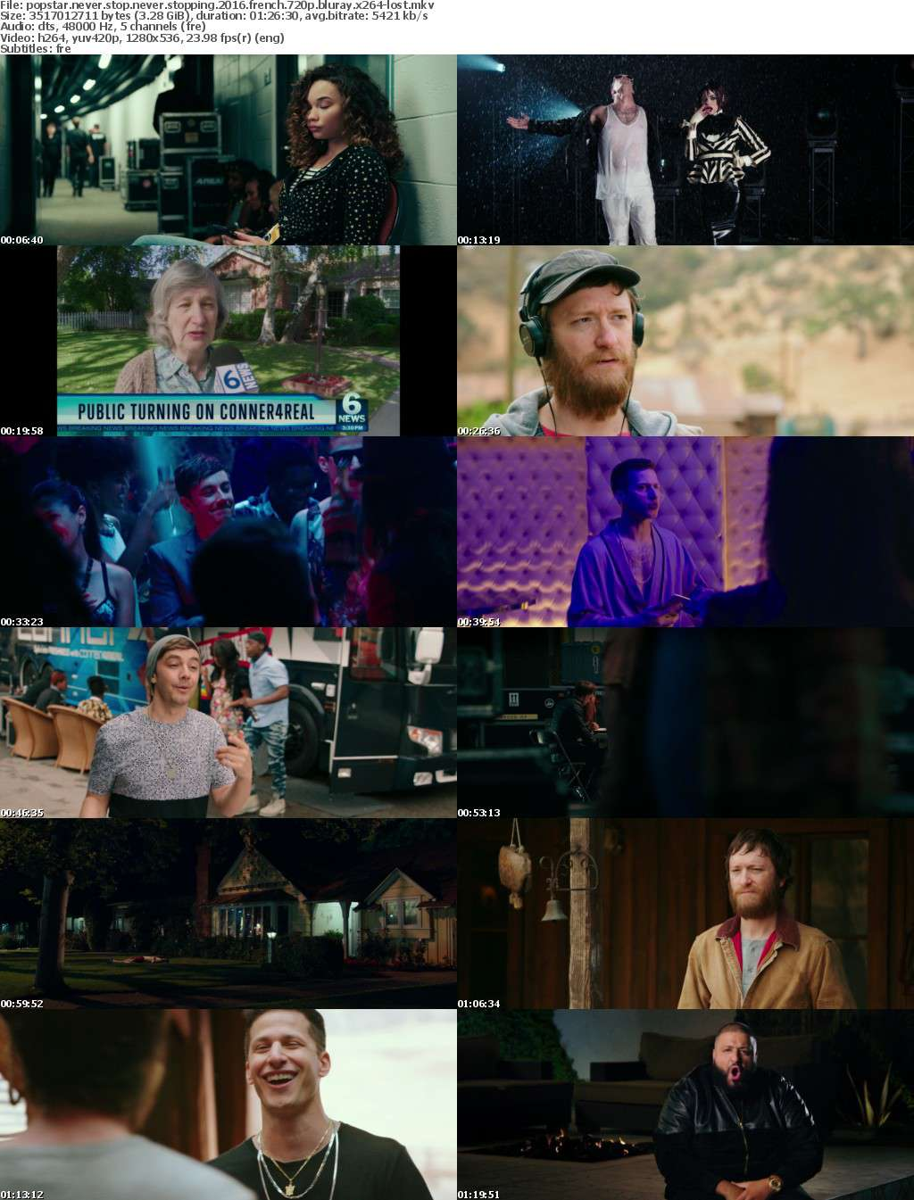 Popstar Never Stop Never Stopping 2016 FRENCH 720p BluRay x264-LOST