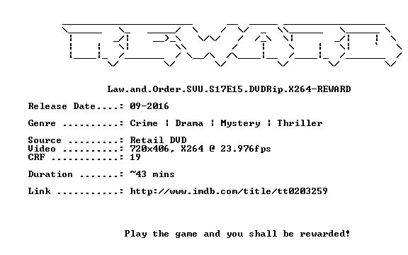 Law and Order SVU S17E15 DVDRip X264-REWARD