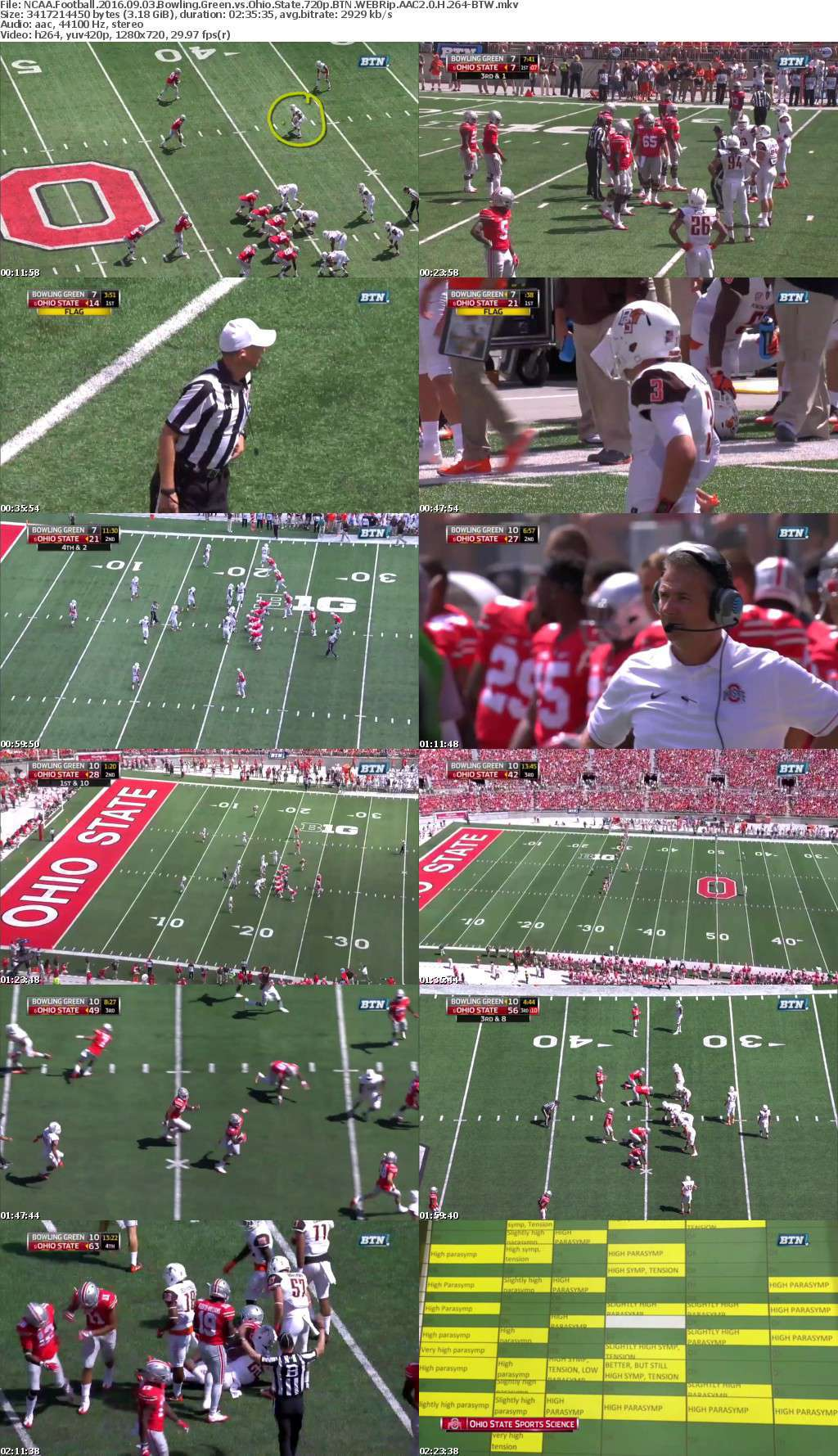 NCAA Football 2016 09 03 Bowling Green vs Ohio State 720p BTN WEBRip AAC2 0 H 264-BTW