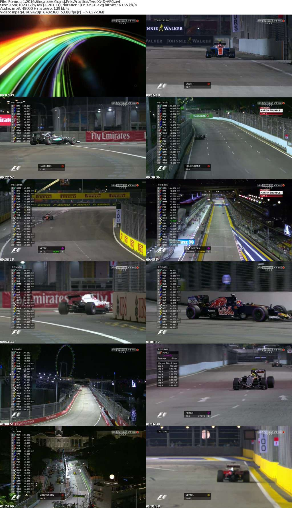 Formula1 2016 Singapore Grand Prix Practice Two XviD-AFG