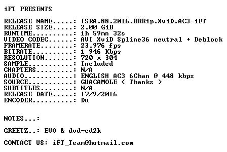 ISRA 88 2016 BRRip XviD AC3-iFT