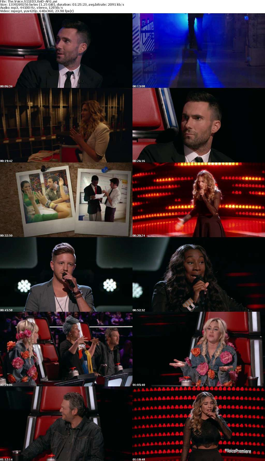 The Voice S11E03 XviD-AFG
