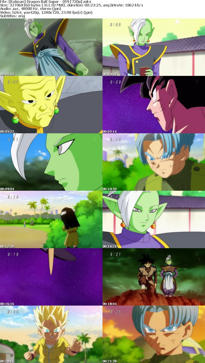 [Batman] Dragon Ball Super - 59 [720p]