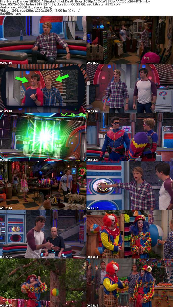Henry Danger S03E01 A Finata Full of Death Bugs 1080p NICK WEBRip AAC2 0 x264-RTN