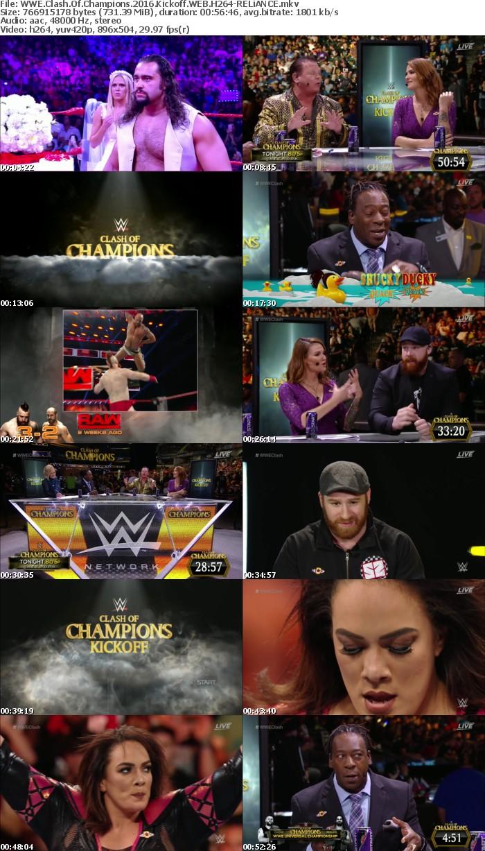 WWE Clash Of Champions 2016 Kickoff WEB H264-RELiANCE