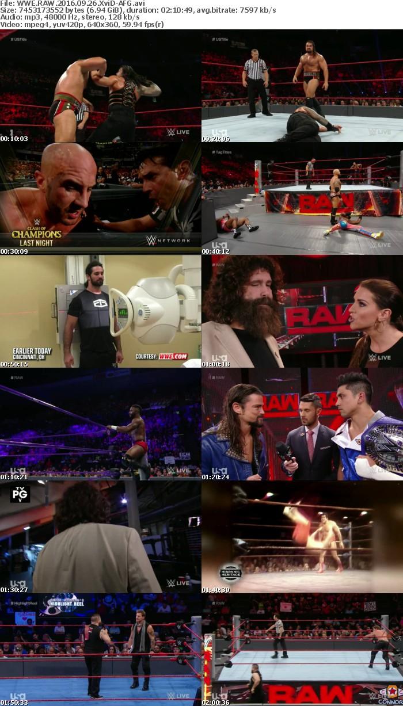 WWE RAW 2016 09 26 XviD-AFG