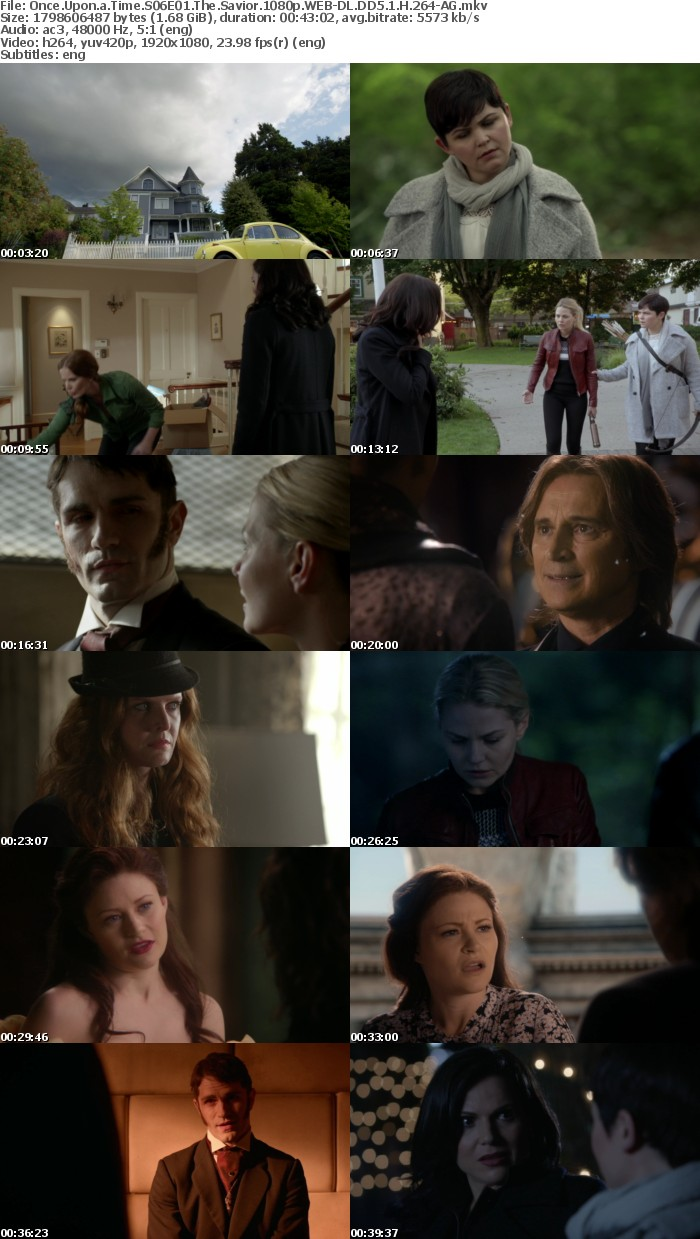 Once Upon a Time S06E01 The Savior 1080p WEB-DL DD5 1 H 264-AG