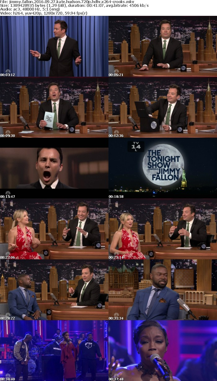 Jimmy Fallon 2016 09 27 Kate Hudson 720p HDTV x264-CROOKS