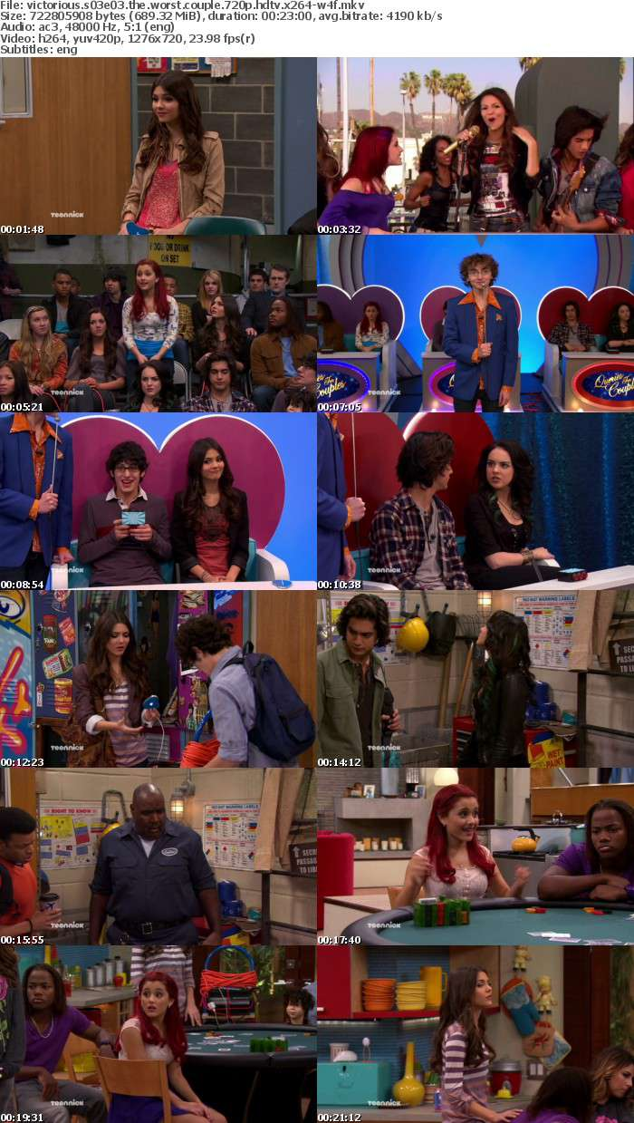 Victorious S03E03 The Worst Couple 720p HDTV x264-W4F