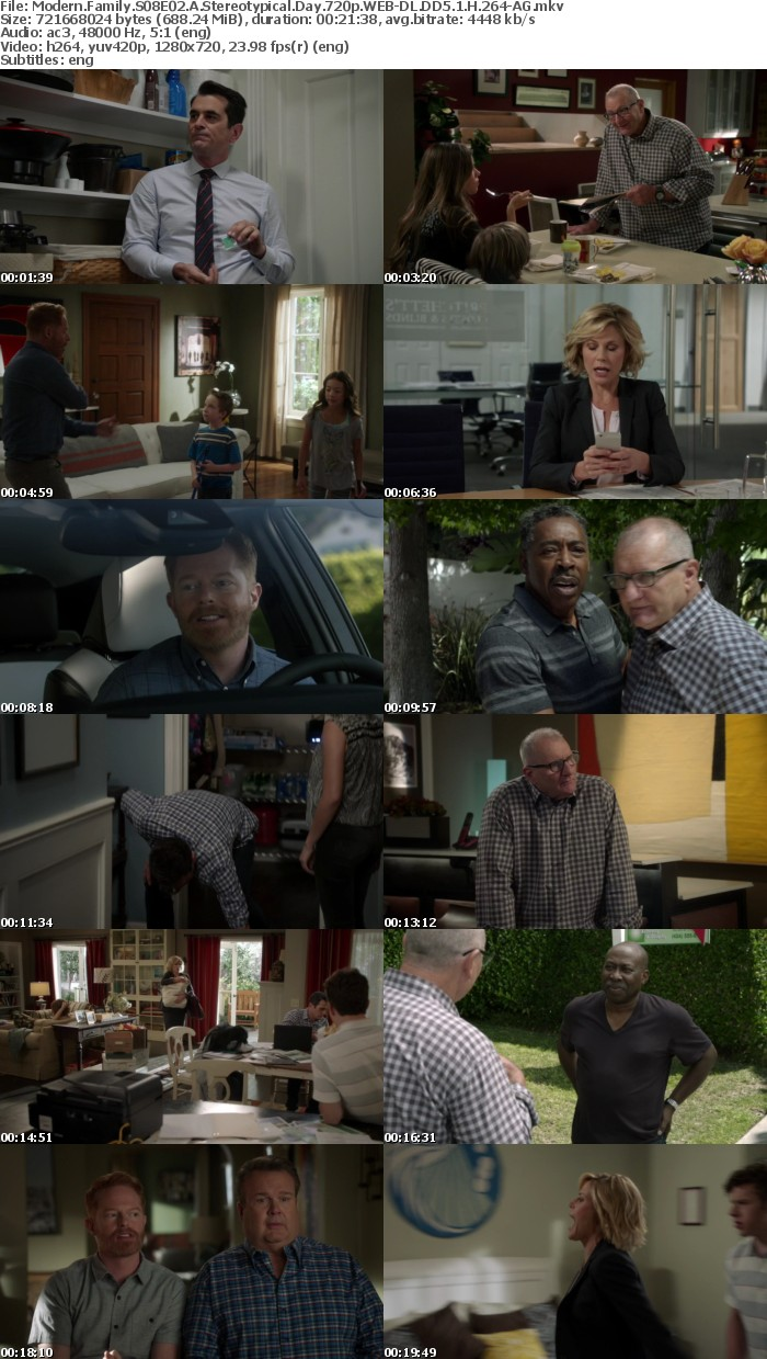 Modern Family S08E02 A Stereotypical Day 720p WEB-DL DD5 1 H 264-AG