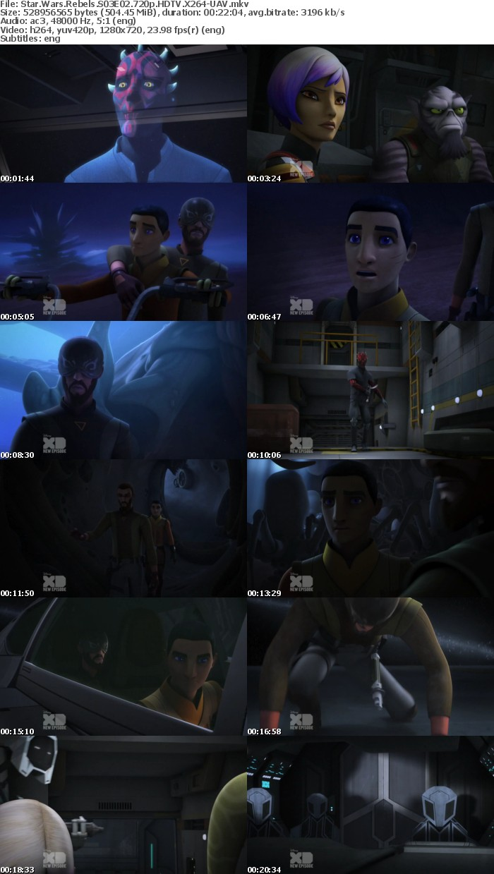 Star Wars Rebels S03E02 720p HDTV X264-UAV