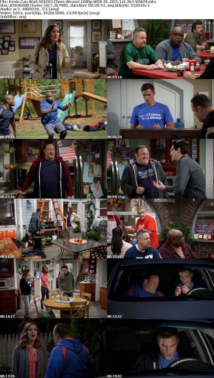 Kevin Can Wait S01E03 Chore Weasel 1080p WEB-DL DD5 1 H 264-ViSUM