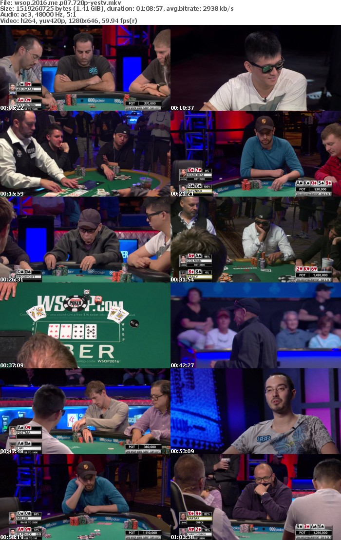 World Series Of Poker 2016 Main Event Part 07 720p HDTV x264-YesTV