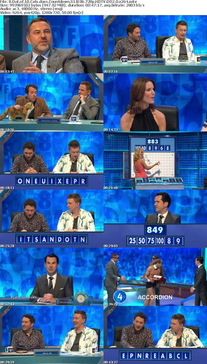 8 Out of 10 Cats does Countdown S11E06 720p HDTV DD2 0 x264