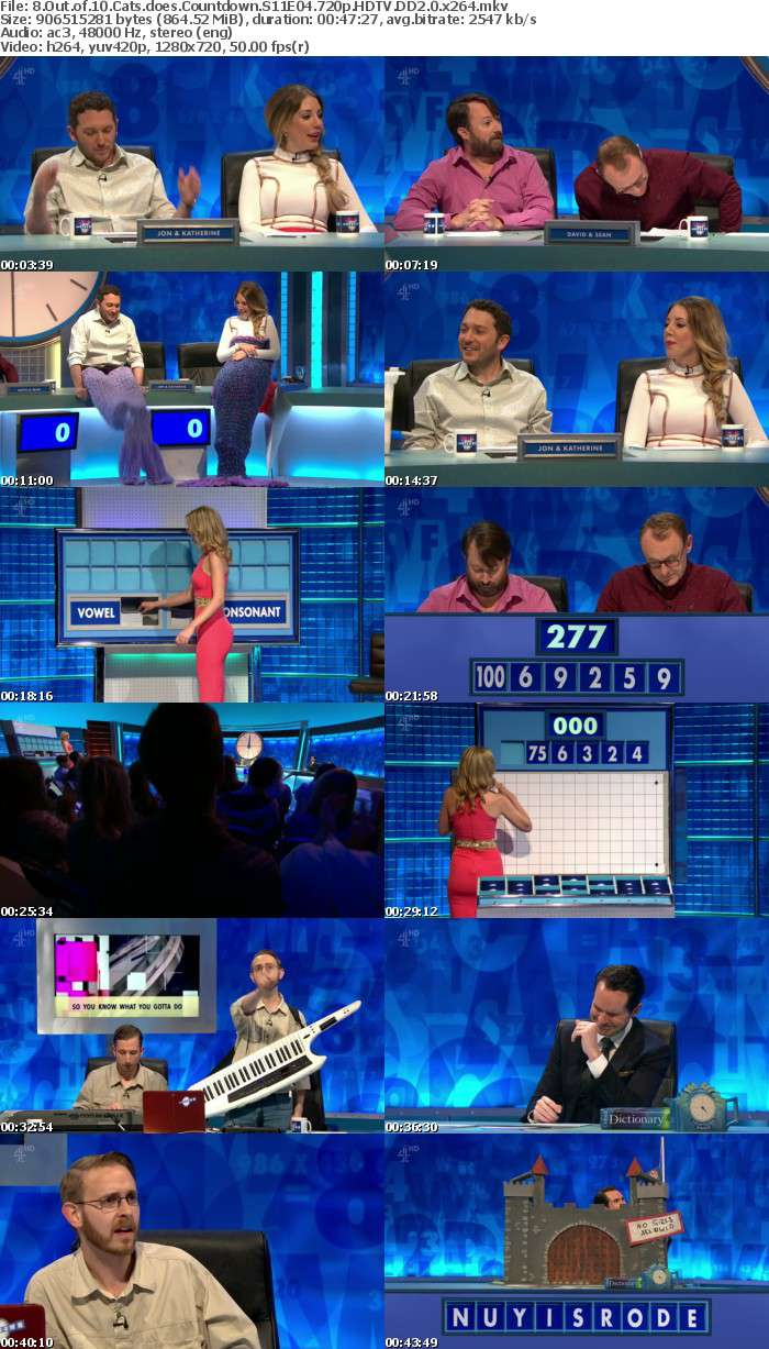 8 Out of 10 Cats does Countdown S11E04 720p HDTV DD2 0 x264