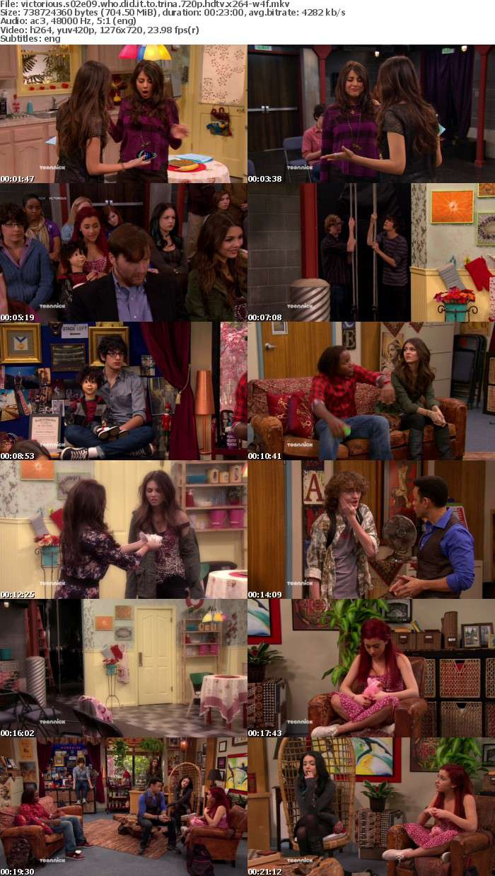 Victorious S02E09 Who Did It To Trina 720p HDTV x264-W4F
