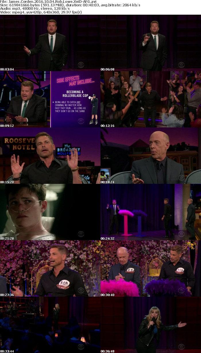 James Corden 2016 10 04 Rob Lowe XviD-AFG