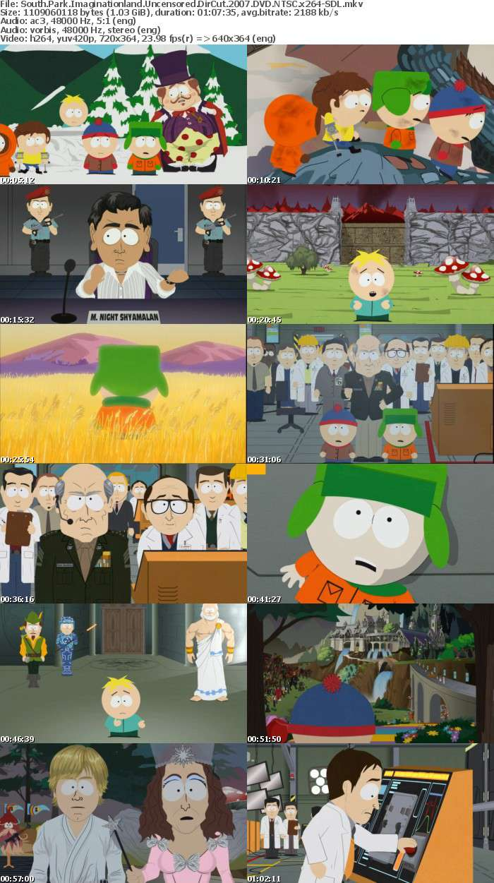 South Park Imaginationland Uncensored DirCut 2007 DVDRiP NTSC x264-SDL