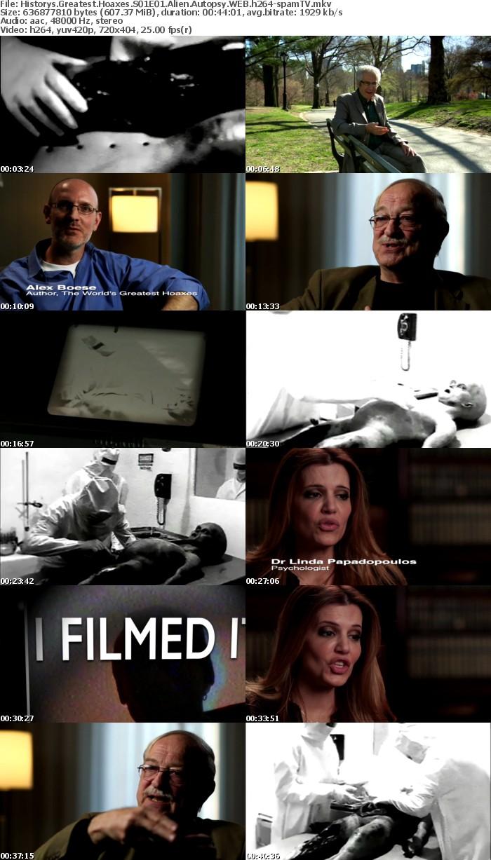 Historys Greatest Hoaxes S01E01 Alien Autopsy WEB h264-spamTV