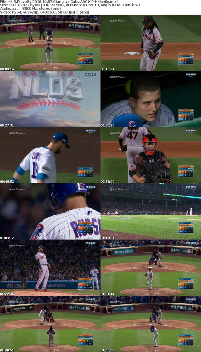 MLB Playoffs 2016 10 07 Giants vs Cubs AAC-Mobile