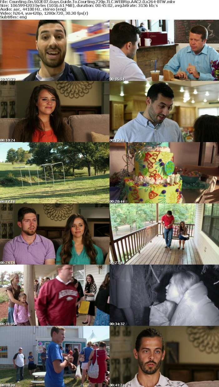 Counting On S02E07 Guys Guide To Courting 720p TLC WEBRip AAC2 0 x264 BTW