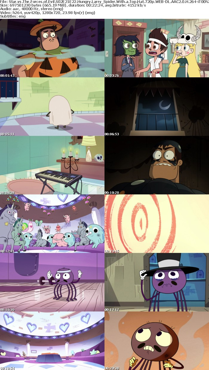 Star vs The Forces of Evil S02E21E22 Hungry Larry Spider With a Top Hat 720p WEB-DL AAC2 0 H 264-iT00NZ