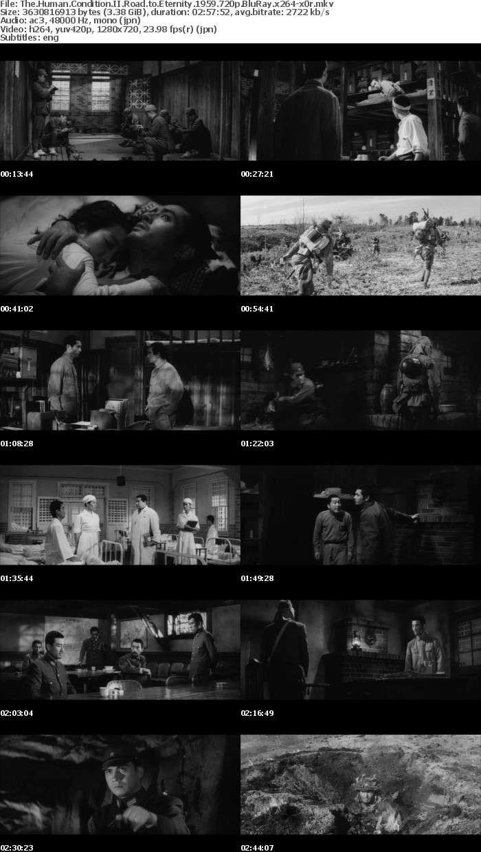 The Human Condition II Road to Eternity 1959 720p BluRay x264-x0r