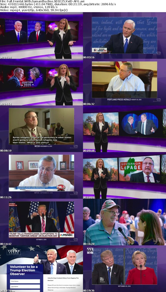 Full Frontal With Samantha Bee S01E25 XviD-AFG