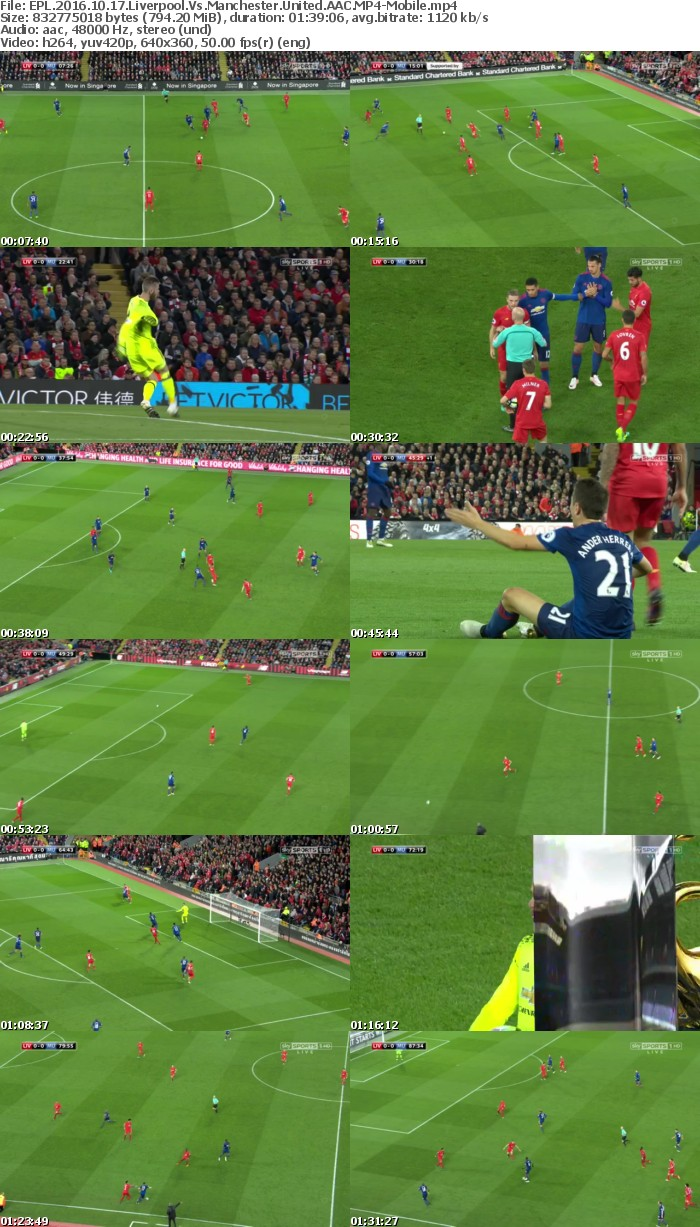 EPL 2016 10 17 Liverpool Vs Manchester United AAC-Mobile