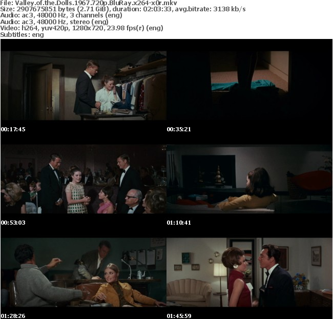 Valley of the Dolls 1967 720p BluRay x264-x0r
