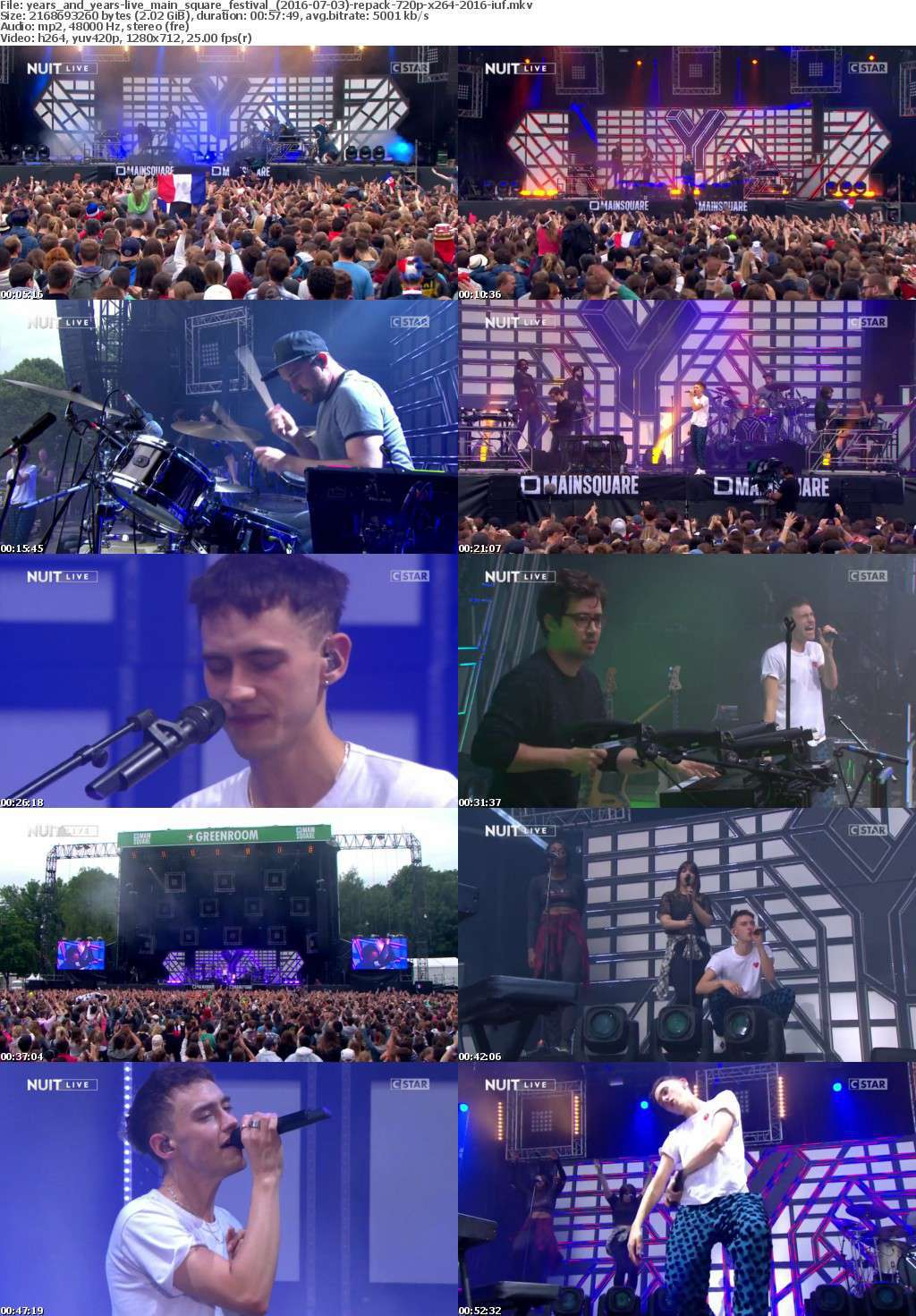 Years And Years-Live Main Square Festival (2016-07-03)-REPACK-720p-x264-2016-iUF