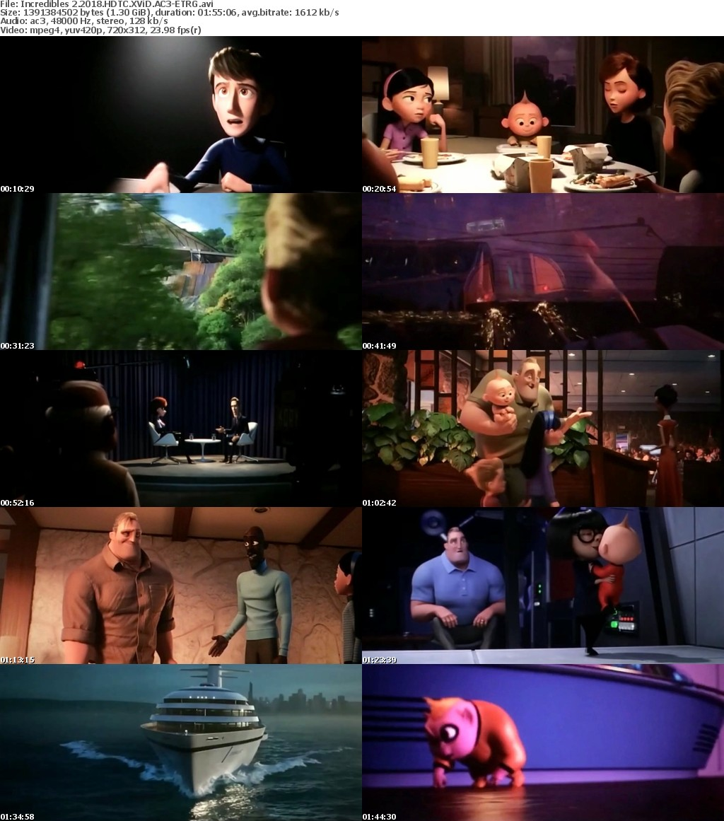 Incredibles 2 (2018) HDTC XViD-ETRG