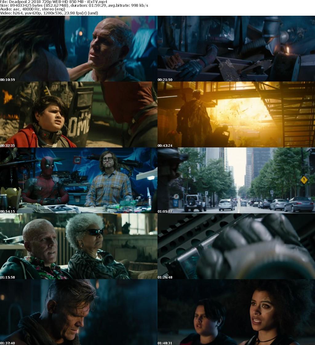 Deadpool 2 2018 720p WEB-HD 850 MB - iExTV