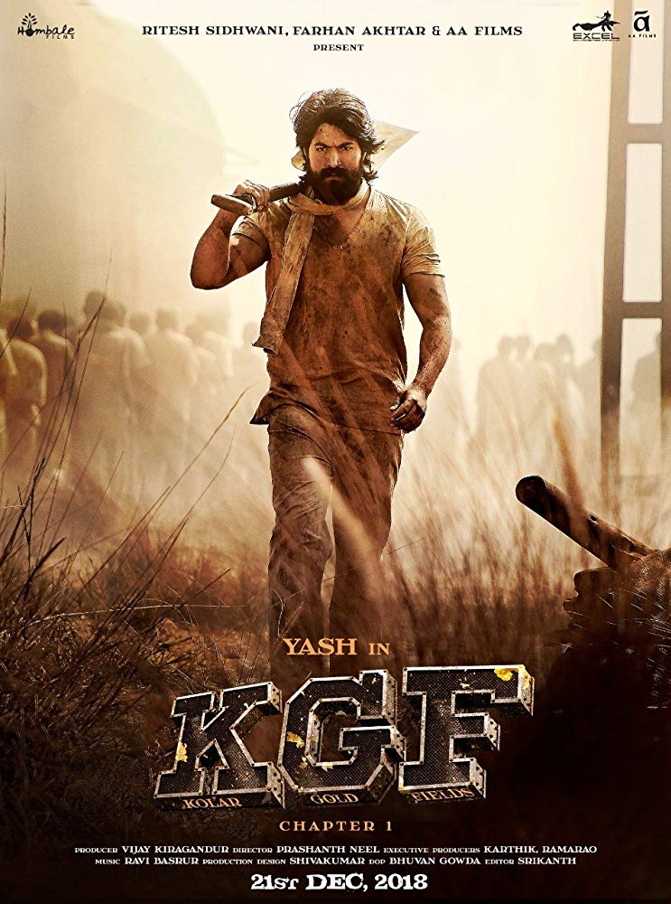 KGF Chapter 1 2018 720p HDRip Hindi Clean LLG