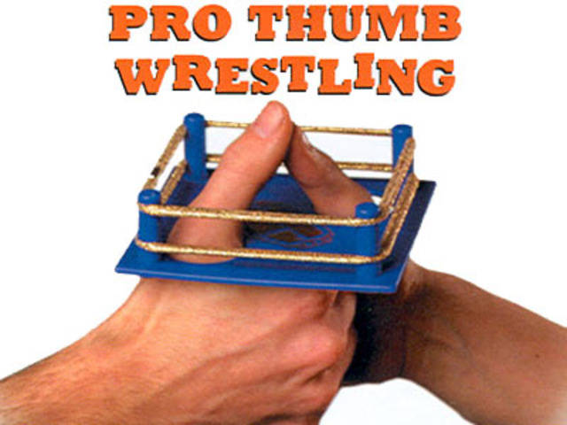 thumb wrestling proffesional ring