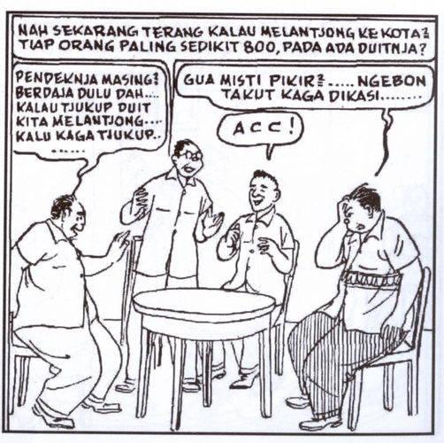 Yang paling menarik dari komik terbit ulang ini adalah, dialog para