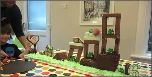 La torta de cumpleaños de Angry Birds